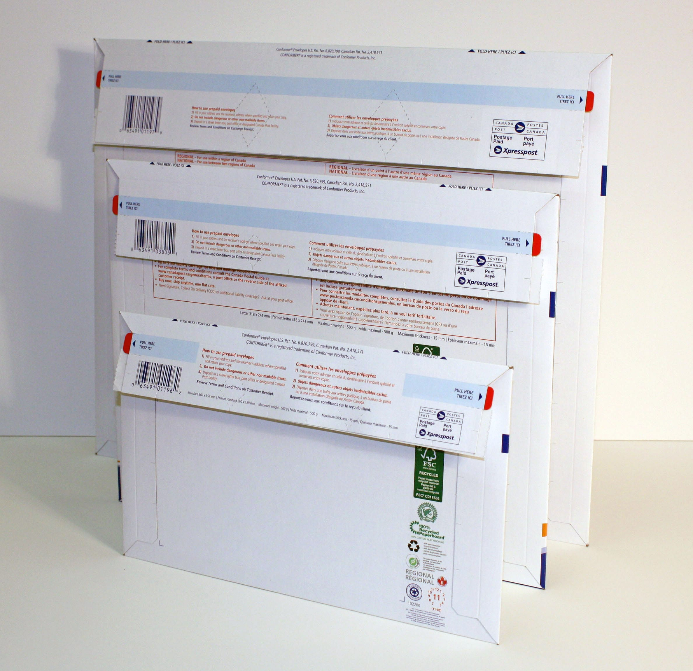 Canada Post offers domestic prepaid envelopes